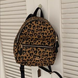 New Coach Charlie Wild Heart Mini Backpack